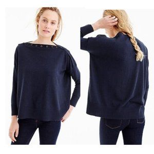 NWT J.Crew button boatneck sweater